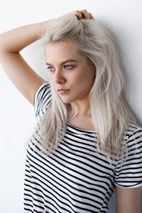 silver-grey-hair colour trend, Farnham hairdressers, Surrey