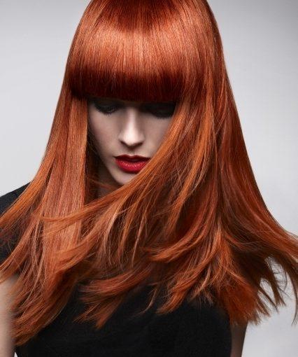 fiery red hair colour at Gavin Ashley