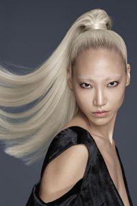 silver grey and blonde hair colours at Gavin Ashley hair salon