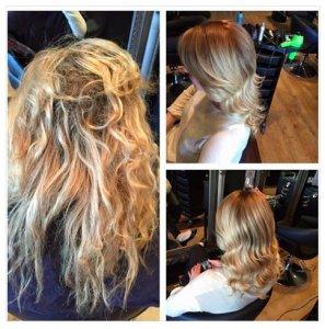 olaplex-before-and-after-at gavin ashley hair salon bury st edmunds