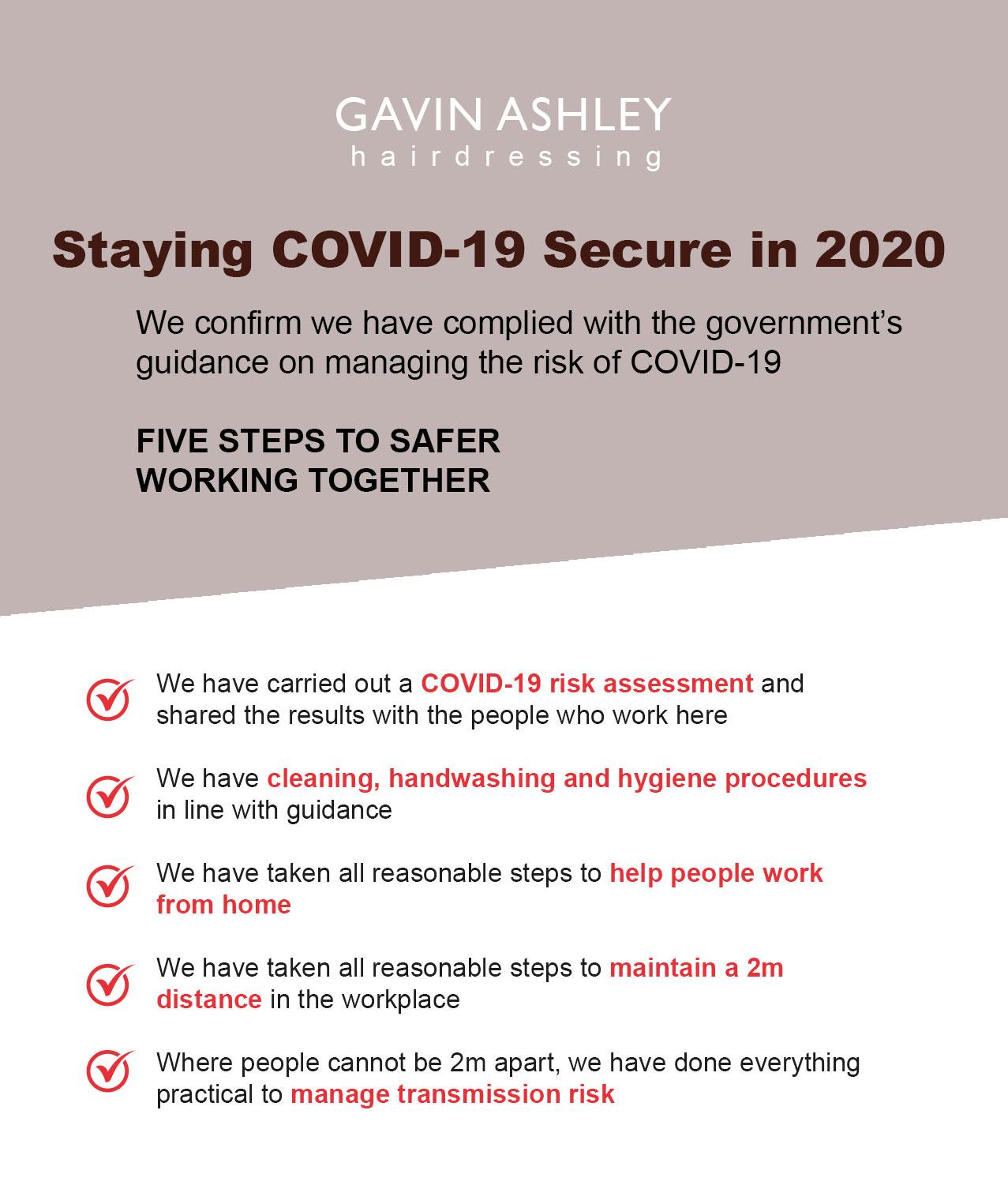 gavin ashley hair salon in bury st edmunds Safe Staying COVID 19 Secure in 2020