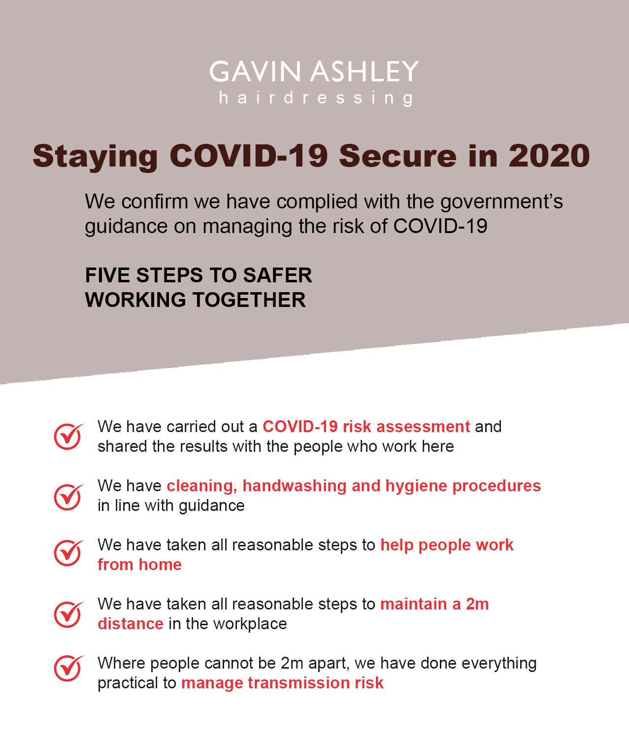 gavin ashley hair salon in bury st edmunds Safe Staying COVID 19 Secure in 2020