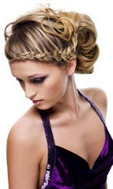 plaited prom hair upstyle