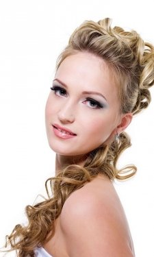 curly prom hairstyle