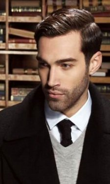 slick-back-and-beard-short MEN'S HAIR CUTS & STYLES AT GAVIN ASHLEY BARBERS IN BURY ST EDMUNDS